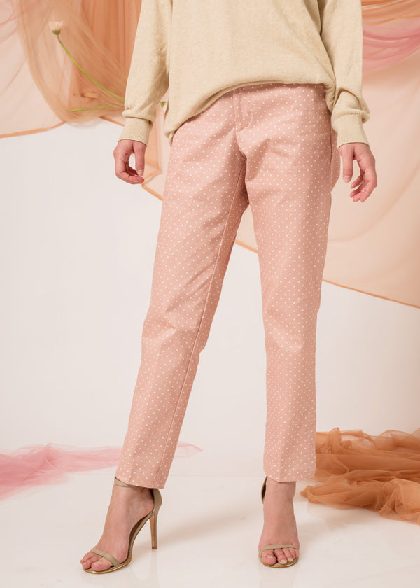 Sean Pants Polka Dusty Pink