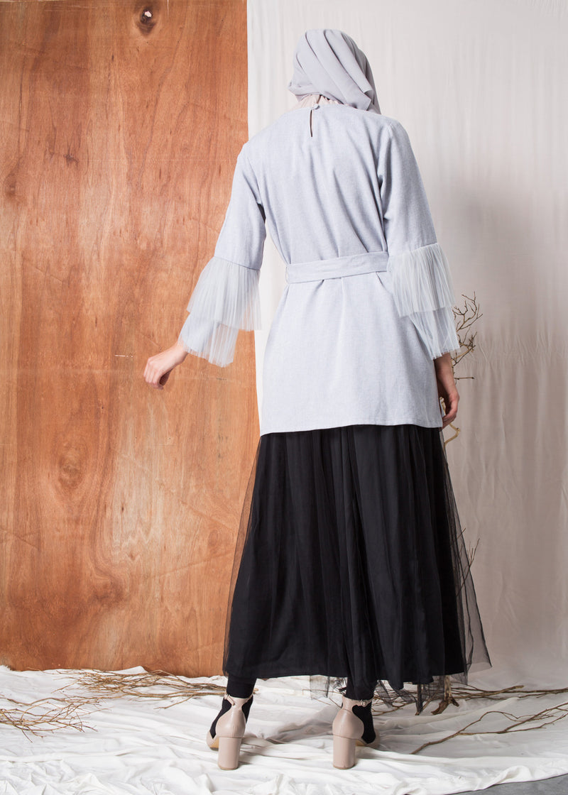 Prisya Top Cloud Gray