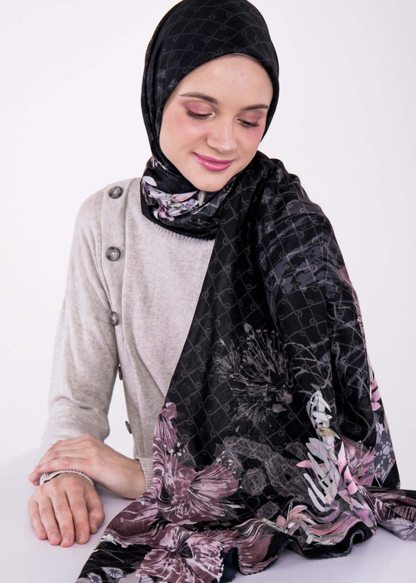 Alyza Scarves Black