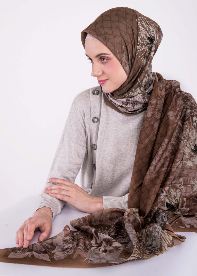 Alyza Scarves Brown