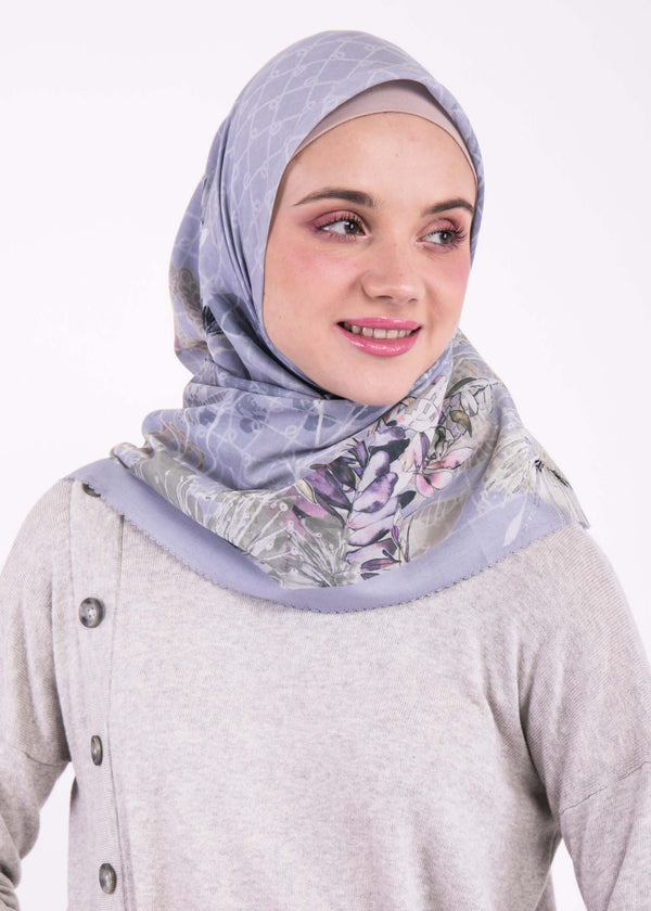 Alyza Scarves Light Gray