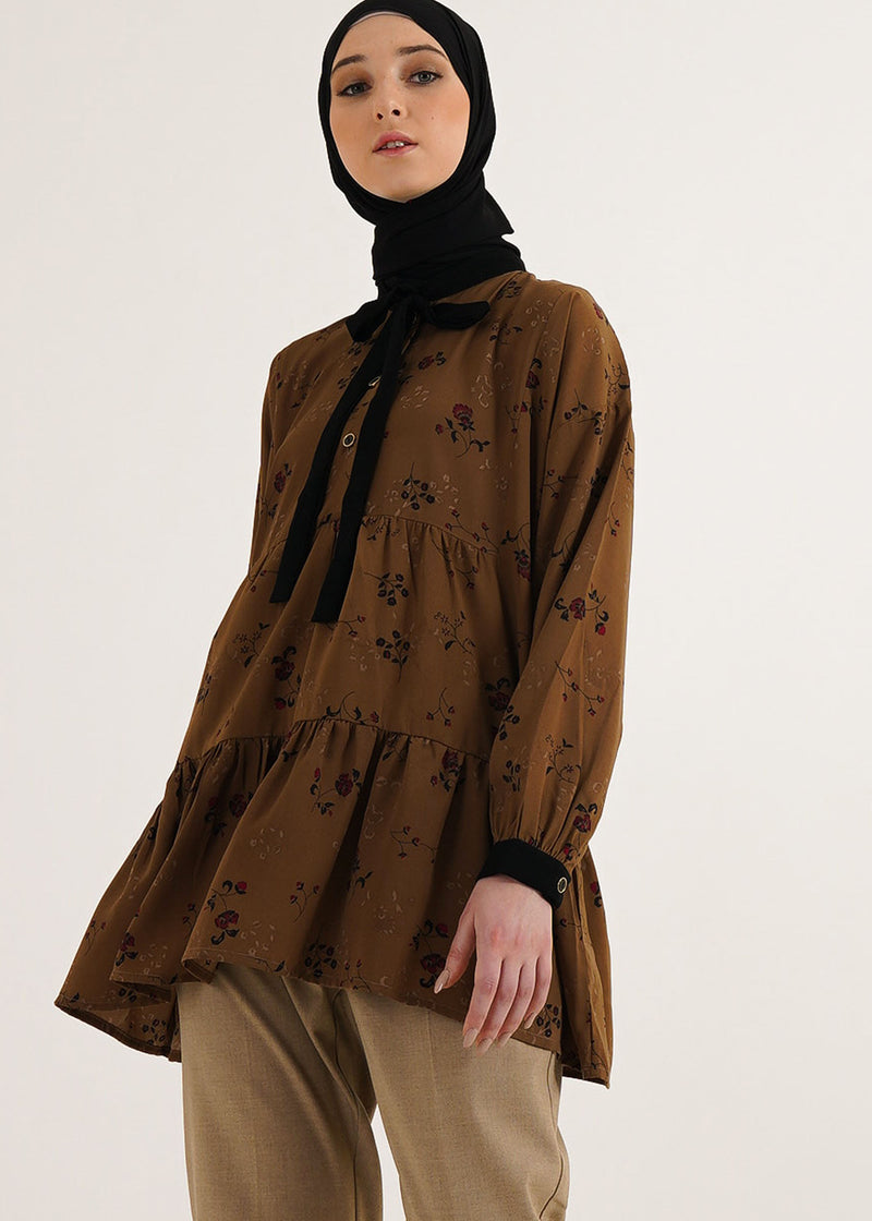 Nindira Top Brown