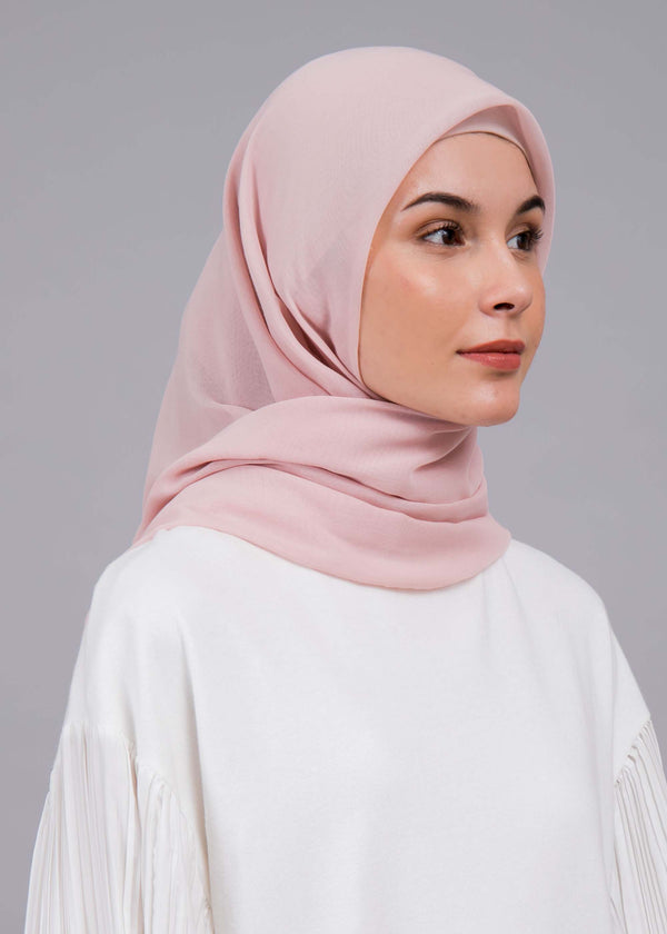 Azqia Scarves Powder Pink