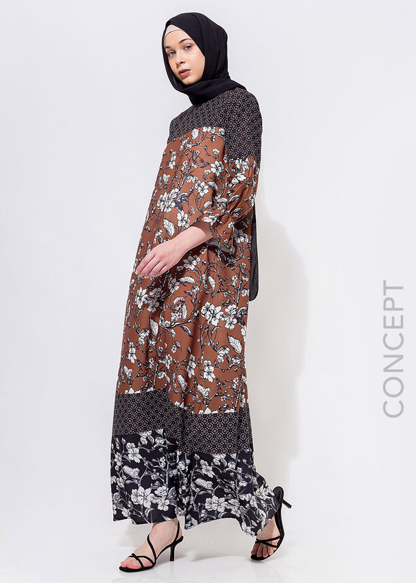 Viona Dress Brown