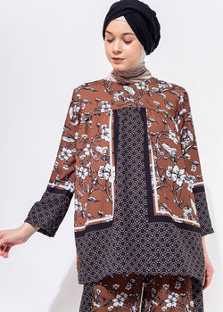 Vescia Top Brown