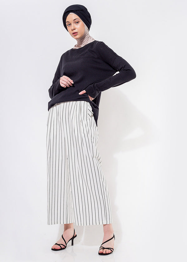 Vara Pants Stripe White