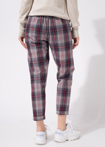 Galea Pants Checked Maroon