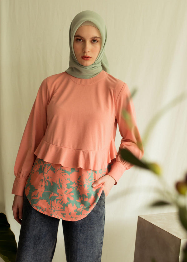 Cella Sweatshirt  Coral