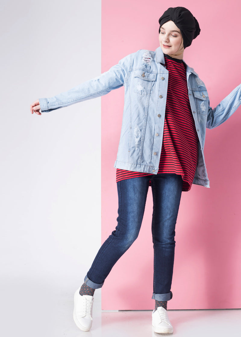 Viandra Jacket Denim Light Blue