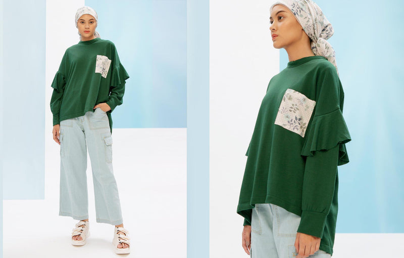 Fida Sweatshirt Bottle Green