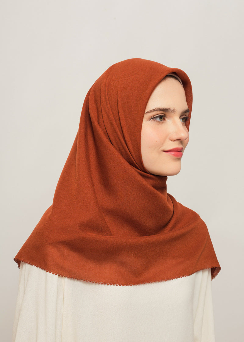 Tisha Scarves Terracotta