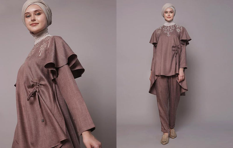 Naira Top Rosy Brown