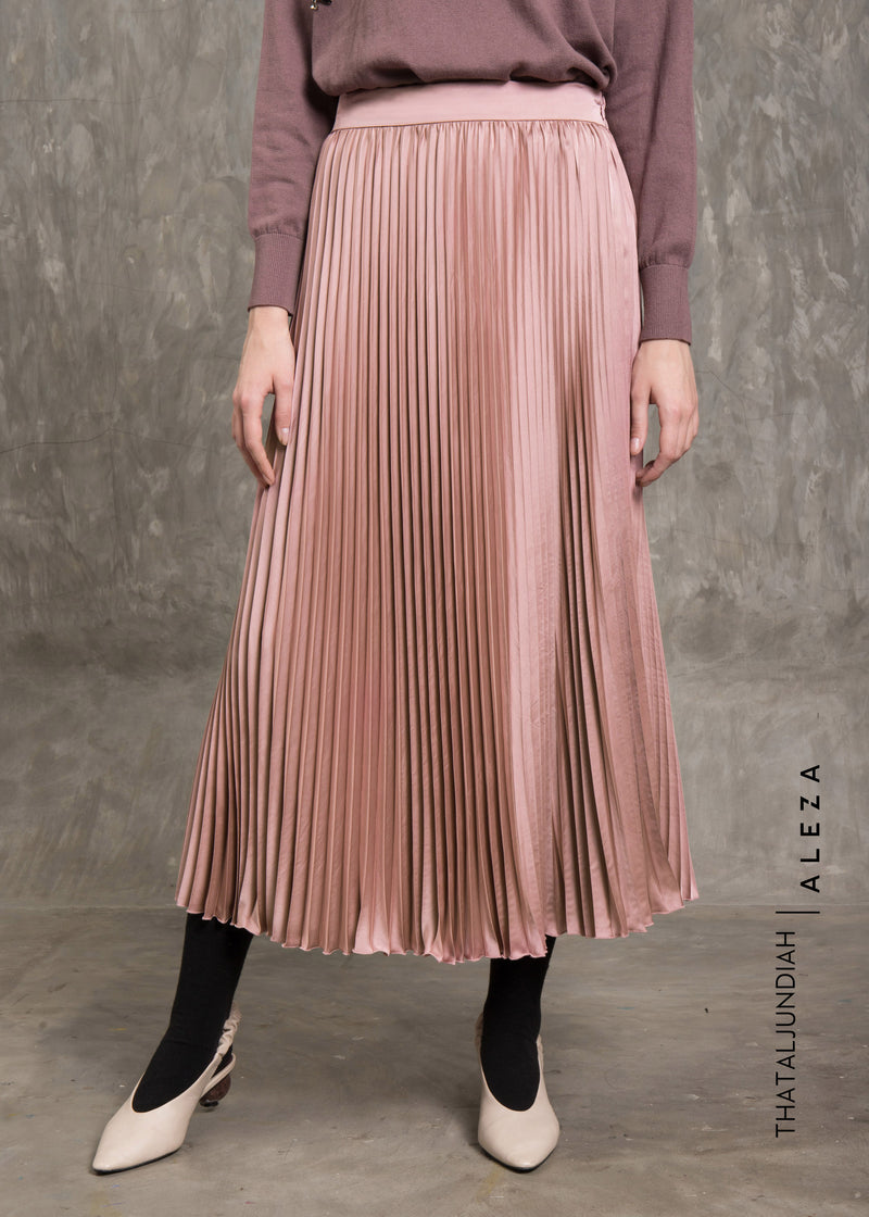 Tharva Pleats Skirt Dusty Pink