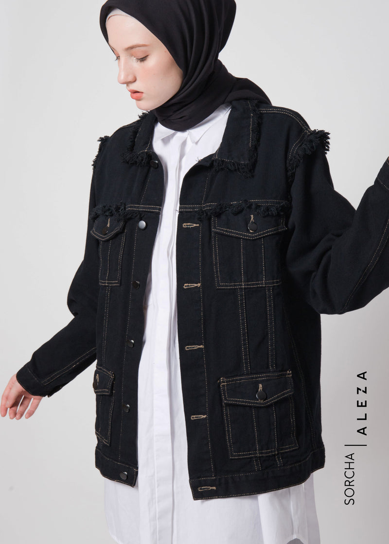 Sivian Jacket Denim Black