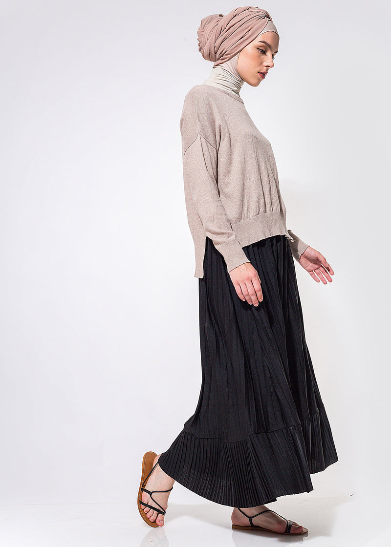 Tysra Pleats Skirt Black