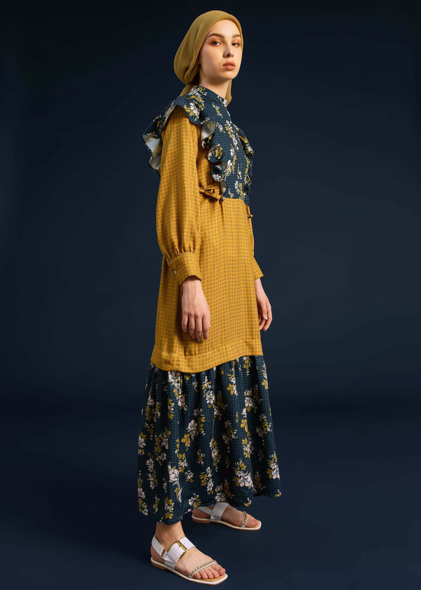 Marisha Dress Mustard