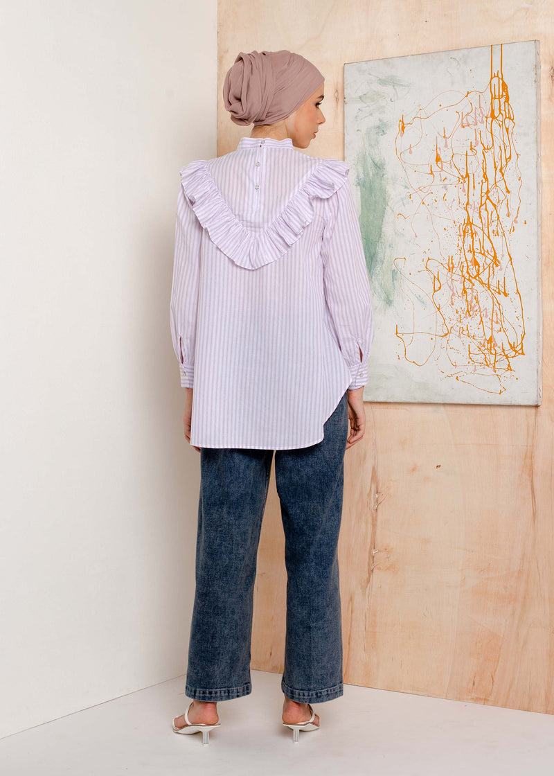 Mola Top Stripe Lilac