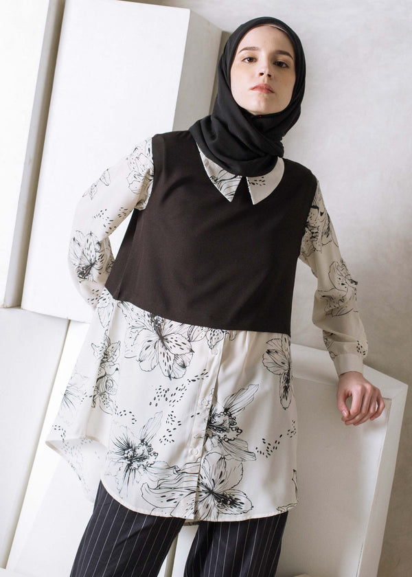 Namira Top Off White