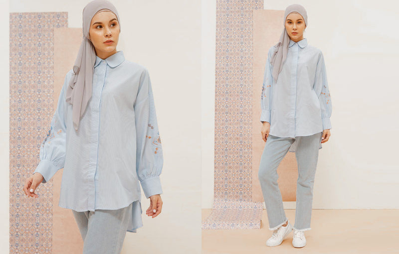 Navra Shirt Soft Blue