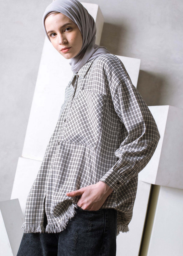 Nitzy Tweed Shirt Off White