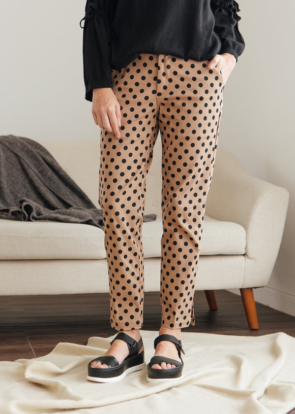 Sean Pants Polka Brown