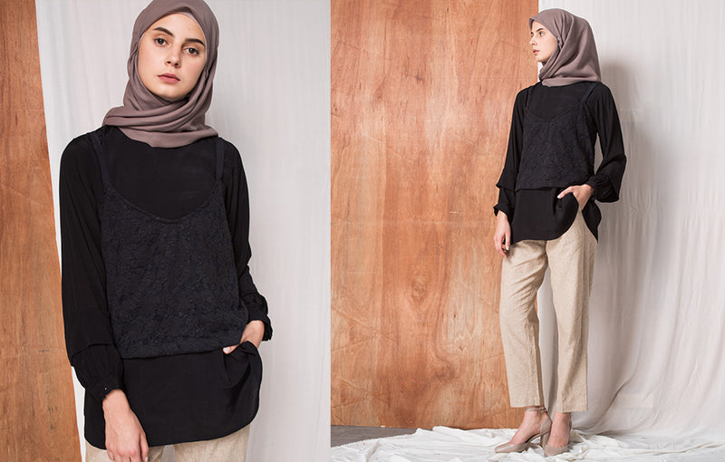 Prianka Top Black