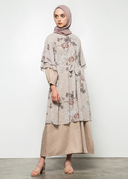 Ranima Set Dress Without Embelishment Beige