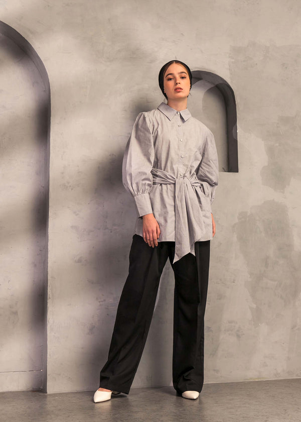 Selvara Shirt Gray