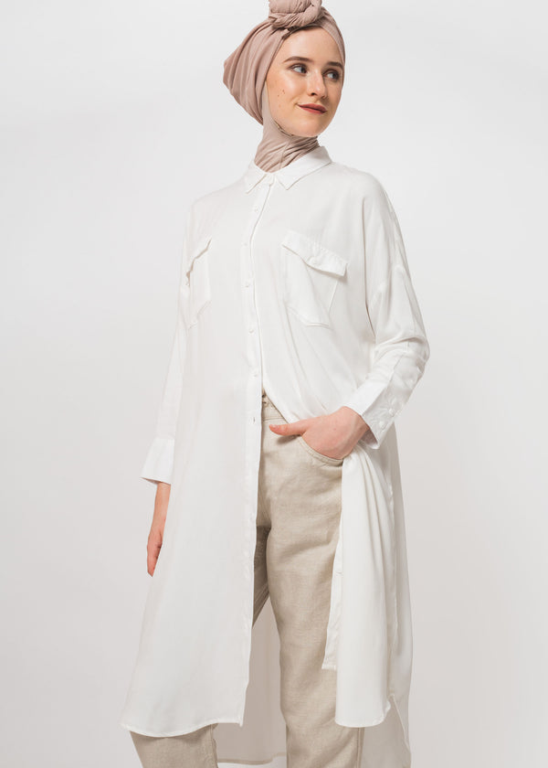 Lana Shirt Tunic White