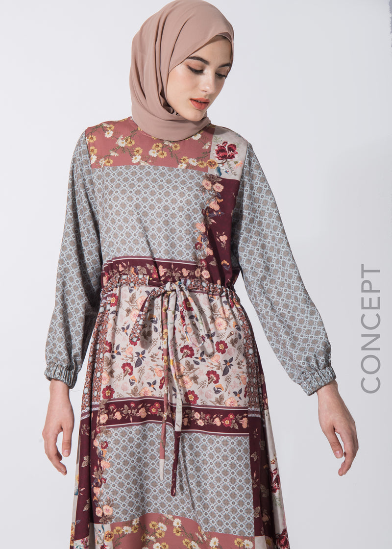 Dindra Dress Terracota