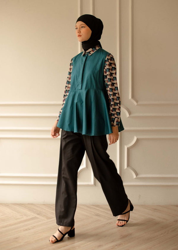 Tezva Shirt Teal Blue