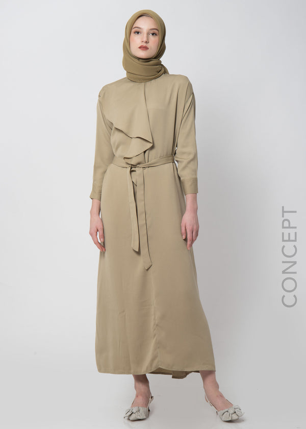 Zandita Dress Light Moss Green