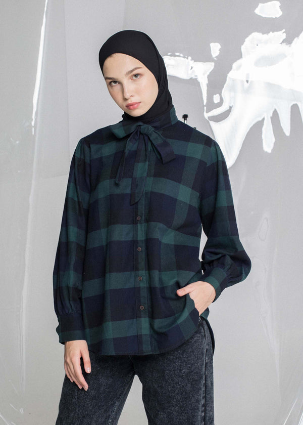 Vaz Check Shirt Green