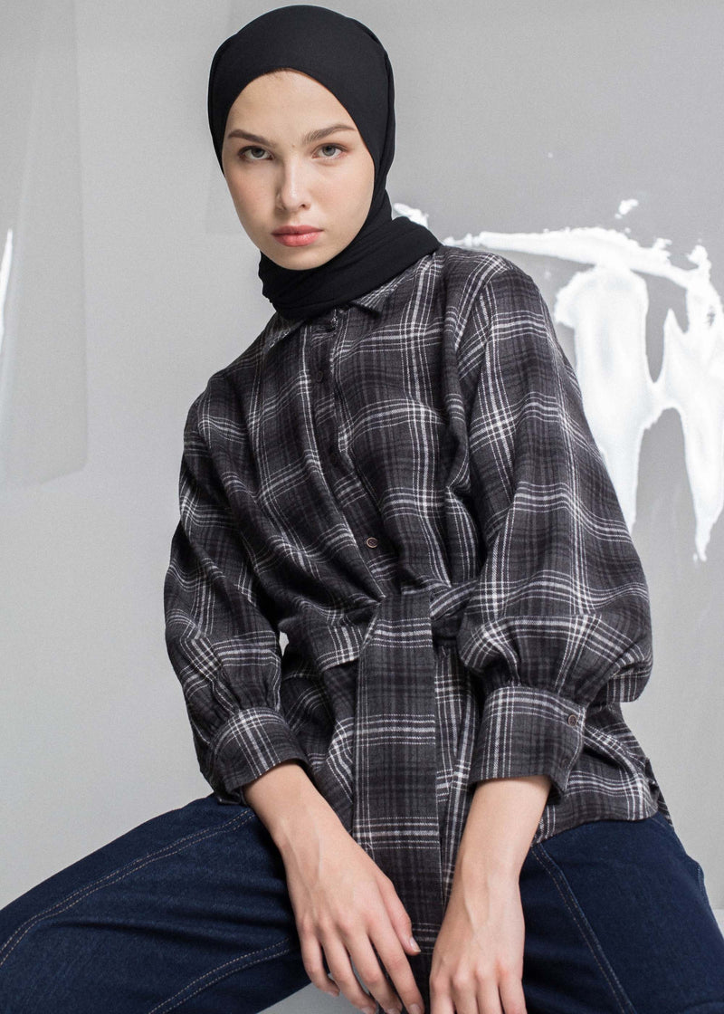 Veliz Check Shirt Gray