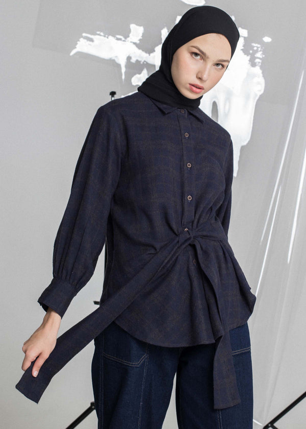 Veliz Check Shirt Navy