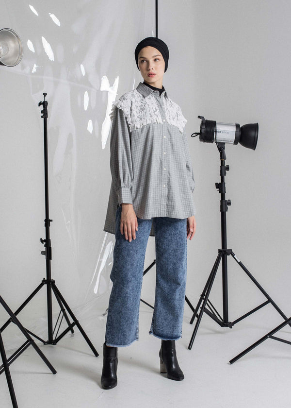 Vexila Check Shirt Gray