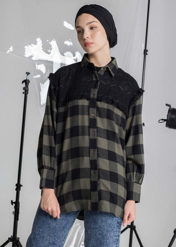 Vexila Check Shirt Olive