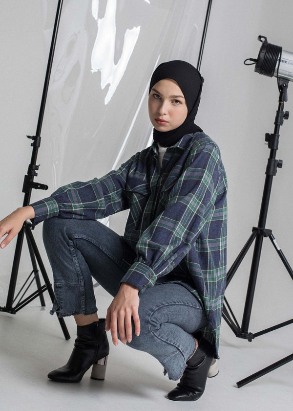 Vixy Check Shirt Navy