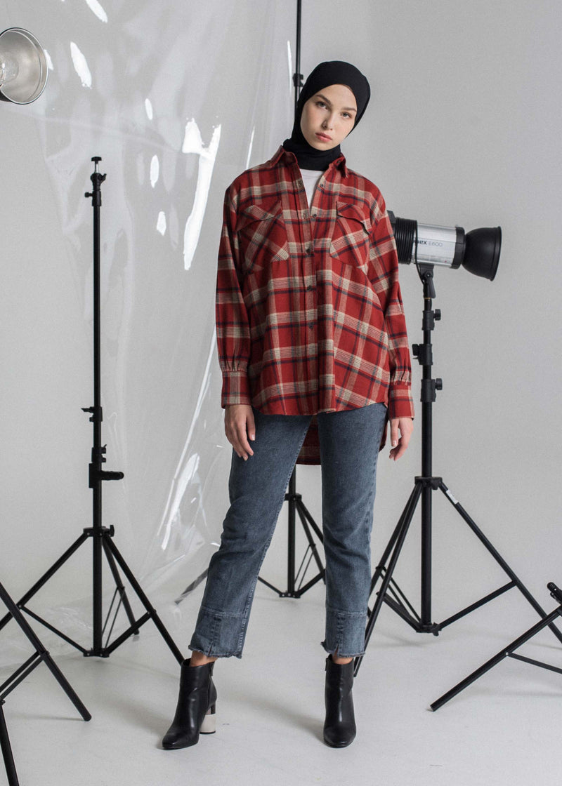 Vixy Check Shirt Red