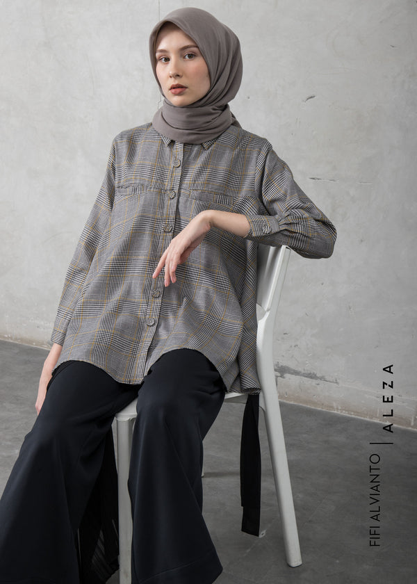 Ficia Flare Shirt Gray
