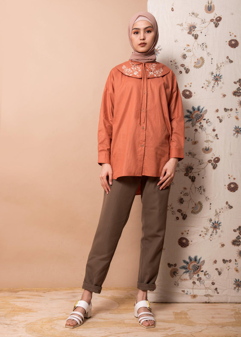 Neil Shirt Terracotta