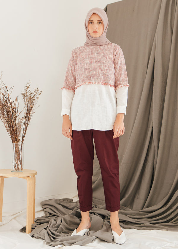 Rae Tweed Top Red