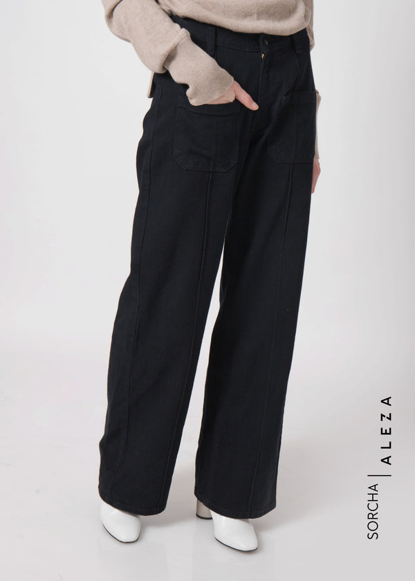 Saura Pants Denim Black