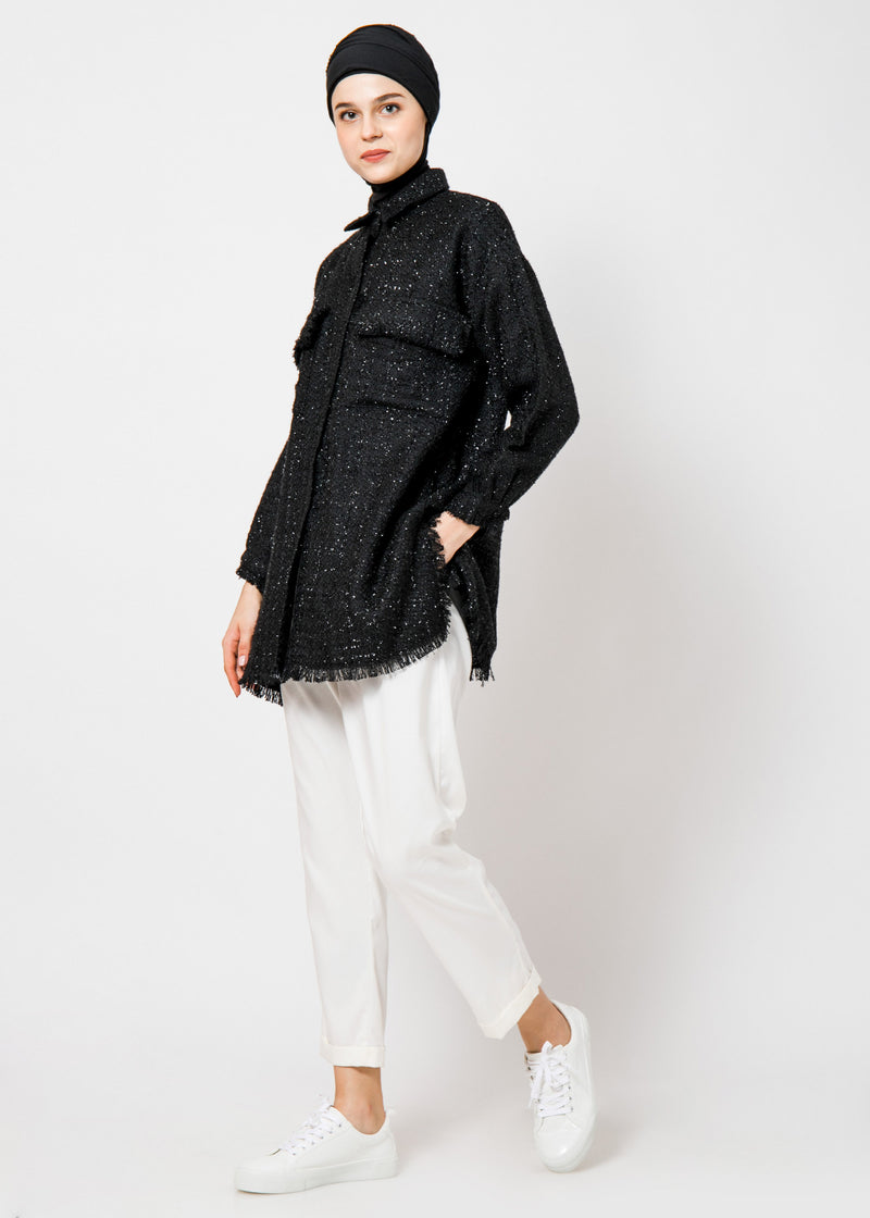 Neyra Tweed Outer Black