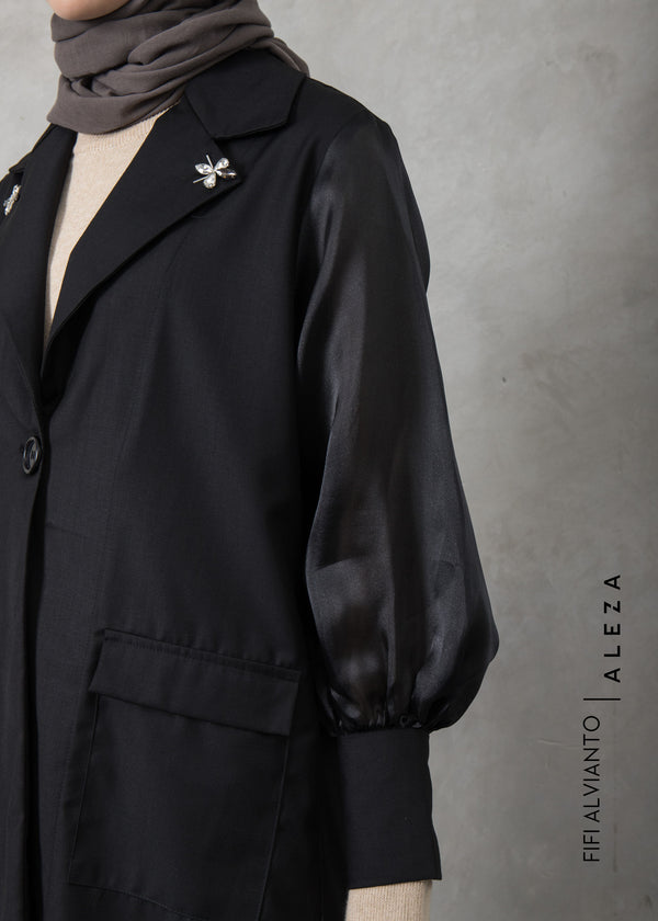 Fivy Embellished Outer Black