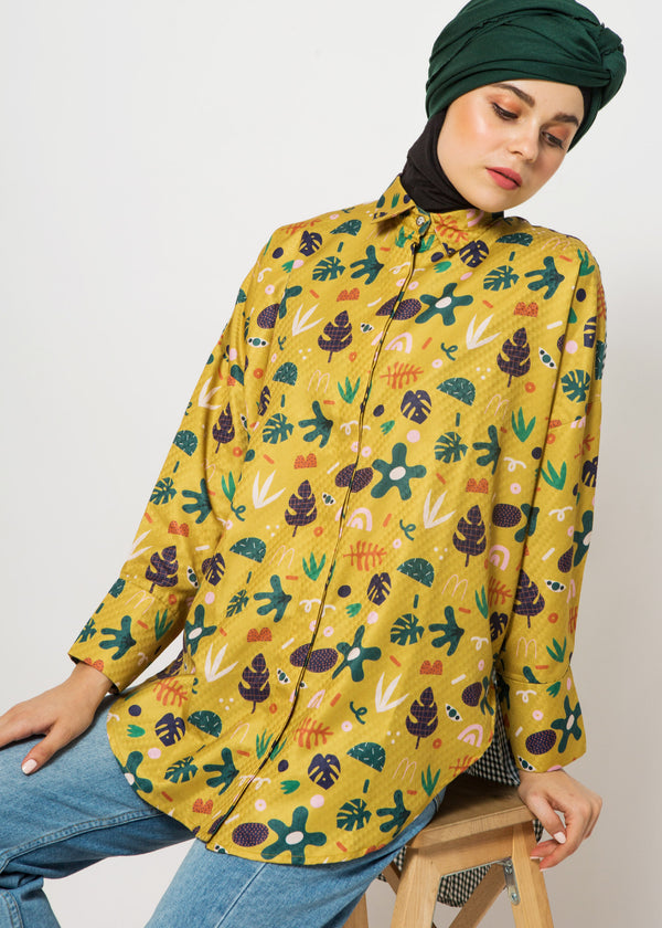 Allen Oversize Shirt Yellow