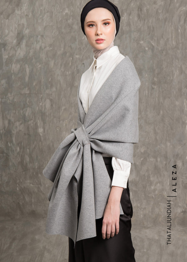 Thazqa Shawl Outer Gray