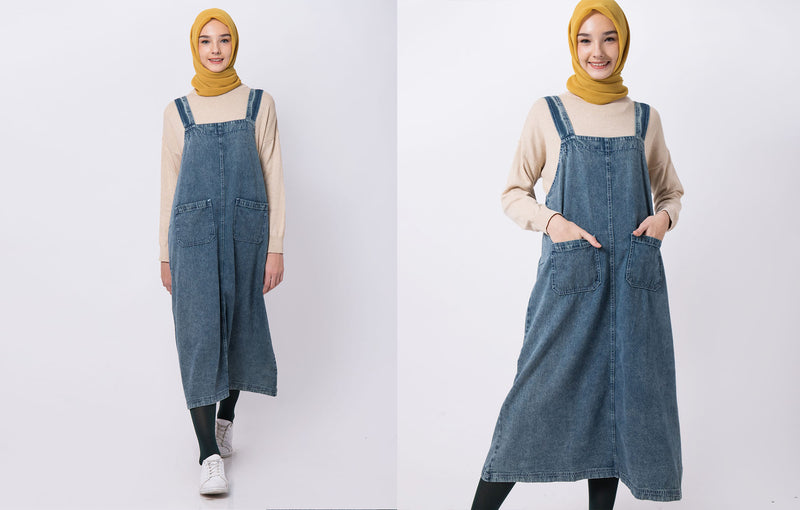 Fayre Overall Denim Light Blue