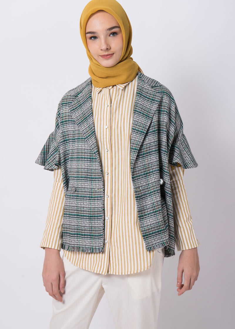 Fiza Tweed Outer Green