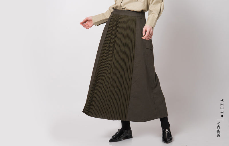 Sigi Skirt Dark Olive